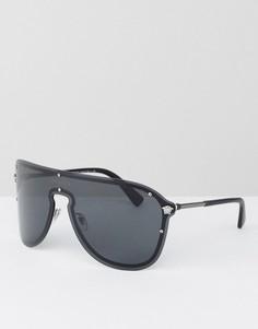 Солнцезащитные очки‑авиаторы Versace - Черный