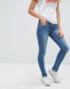 Супероблегающие джинсы с классической талией Lee Jodee - Синий
