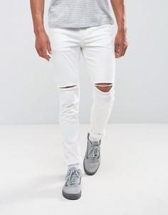 Белые рваные джинсы скинни Antioch - Белый
