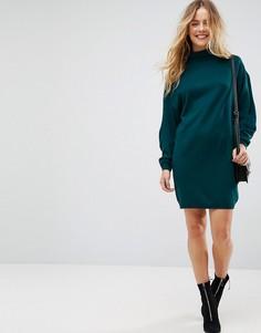 Вязаное платье мини с широкими рукавами ASOS - Зеленый
