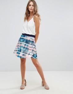Асимметричная юбка с пальмовым принтом Lavand - Мульти
