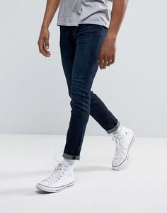 Темные эластичные зауженные джинсы Abercrombie & Fitch - Синий
