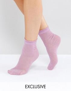 Носки металлик Monki - Фиолетовый