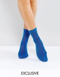 Носки металлик Monki - Синий