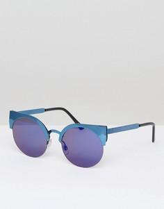 Солнцезащитные очки кошачий глаз с зеркальными стеклами Monki - Золотой