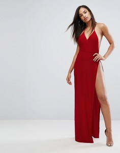 Платье макси с запахом Club L - Красный