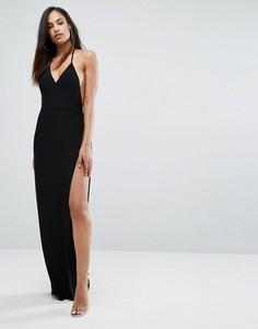 Платье макси с запахом Club L - Черный