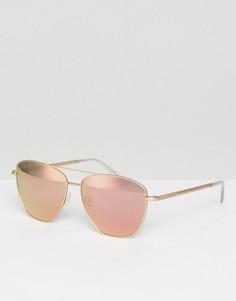 Солнцезащитные очки в оправе цвета розового золота Hawkers - Золотой