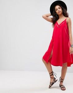 Платье-комбинация миди Free People All I Want - Красный