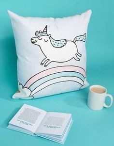 Подушка с надписью Unicorn Ohh Deer - Мульти