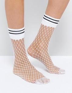 Белые сетчатые носки в полоску ASOS - Белый