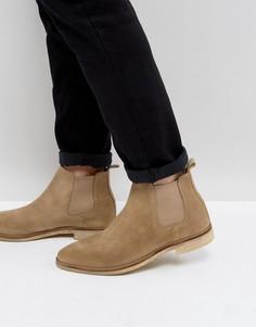 Светло-серые ботинки челси с контрастной подошвой ASOS - Светло-серый