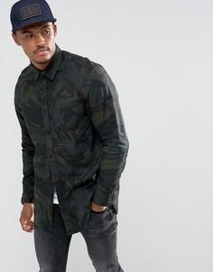 Длинная джинсовая рубашка G-Star Stalt - Черный