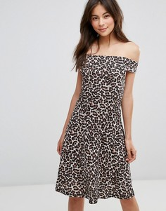Платье с открытыми плечами Only - Черный