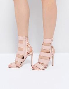 Розовые босоножки на каблуке с ремешками и шнуровкой ALDO - Розовый