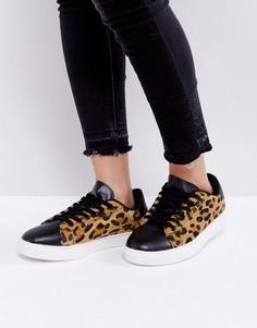 Кроссовки с леопардовым принтом Truffle Collection Clean - Бежевый