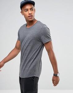 Длинная футболка с асимметричным краем Jack & Jones Originals - Серый