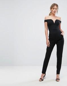 Комбинезон с открытыми плечами New Look - Черный