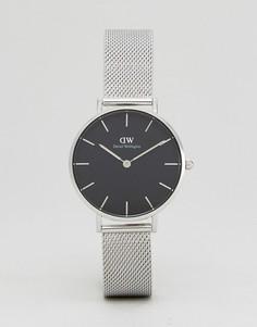 Серебристые часы с сетчатым ремешком Daniel Wellington DW00100163 - Серебряный