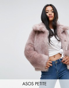 Искусственная шуба в винтажном стиле ASOS PETITE - Розовый