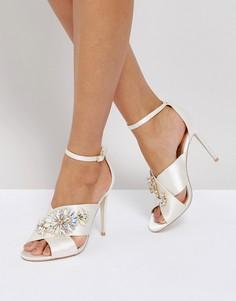 Босоножки на каблуке с отделкой ASOS HOLY GRAIL Bridal - Белый