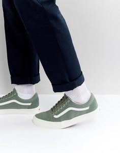 Зеленые замшевые кроссовки Vans Old Skool VA38G1OS5 - Зеленый
