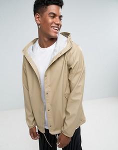 Бежевая водонепроницаемая спортивная куртка с капюшоном Herschel Forecast - Бежевый