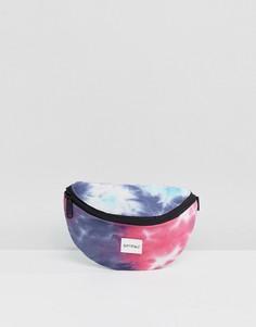 Сумка-кошелек на пояс с принтом тай-дай Spiral - Синий