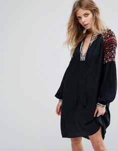 Платье с вышивкой Y.A.S - Черный
