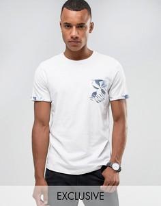 Футболка с контрастным принтом на кармане Jack & Jones Originals - Белый
