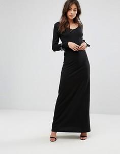 Платье макси с завязками на рукавах Only - Черный