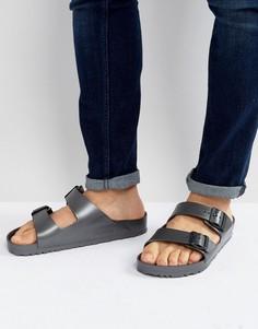 Темно-серые сандалии с эффектом металлик Birkenstock Arizona Eva - Серый