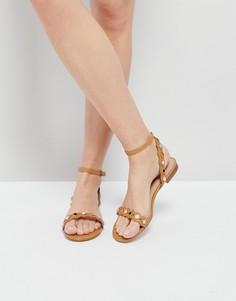 Светло-коричневые сандалии на плоской подошве с отделкой ALDO - Рыжий
