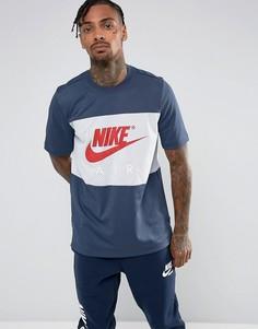 Синяя футболка Nike Air 913964-471 - Синий