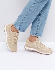 Светло-коричневые атласные кроссовки Nike Internationalist Essential - Бежевый