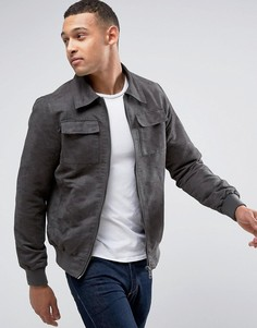 Куртка из искусственной замши Barneys - Серый Barneys Originals