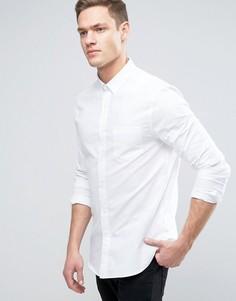 Оксфордская рубашка узкого кроя с длинными рукавами Burton Menswear - Белый