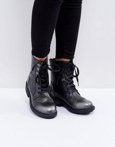Ботильоны на шнуровке Glamorous - Черный