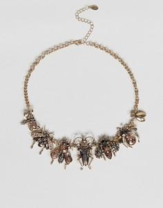Ожерелье с подвеской в виде насекомого ALDO - Золотой