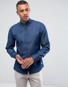Джинсовая рубашка классического кроя Solid - Синий