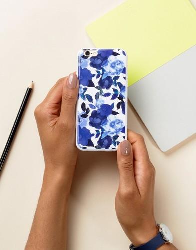 Чехол для Iphone 6 с цветочным принтом Signature - Синий