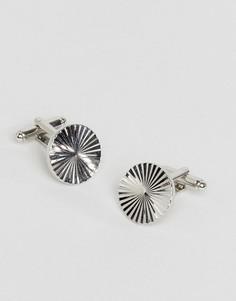 Круглые серебристые запонки ASOS - Серебряный