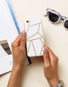 Чехол для iPhone 6 с геометрическим принтом Signature - Белый