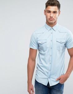 Джинсовая рубашка с короткими рукавами Blend - Синий