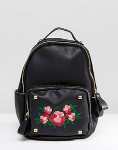 Рюкзак с вышивкой Yoki - Черный