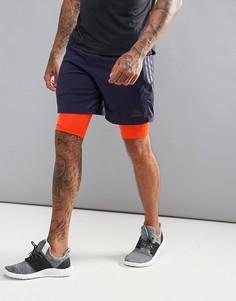 Темно-синие шорты 2-в-1 adidas Training CD2236 - Темно-синий