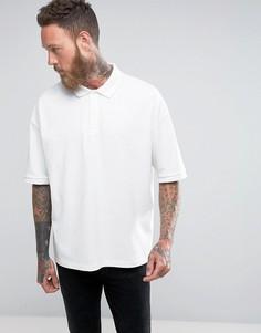 Футболка-поло с заниженной линией плеч AllSaints - Белый