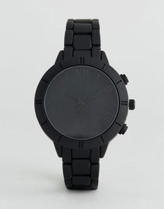 Часы в мужском стиле с матовым покрытием ASOS - Черный