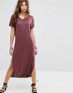 Пляжное платье-футболка макси Lira - Красный