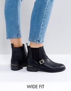 Ботинки челси из кожзаменителя для широкой стопы New Look - Черный